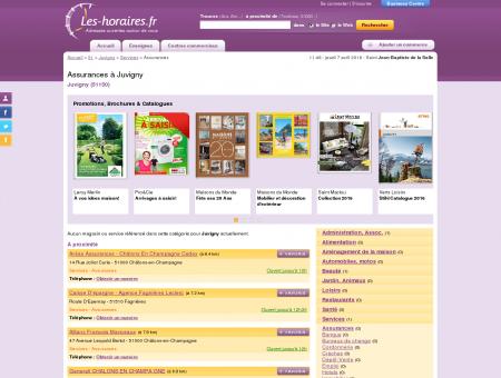 Assurances à Juvigny | Les-horaires.fr