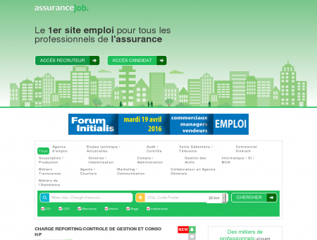 Assurancejob: Le premier site emploi pour tous...