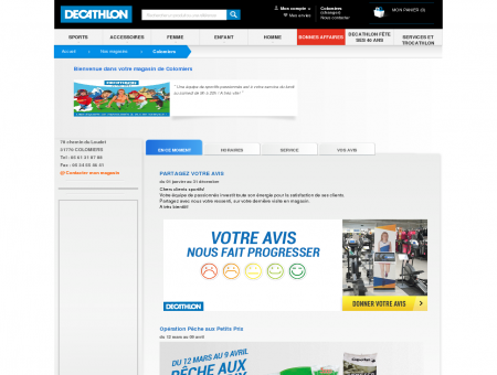 Magasin Decathlon Colomiers - 78 chemin du...