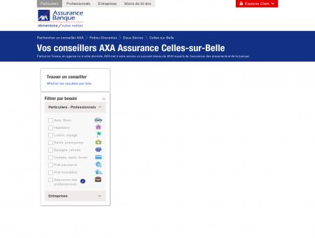 Assurance Celles-sur-Belle - 79370 - AXA -...