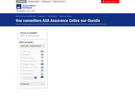Assurance Celles-sur-Durolle - 63250 - AXA