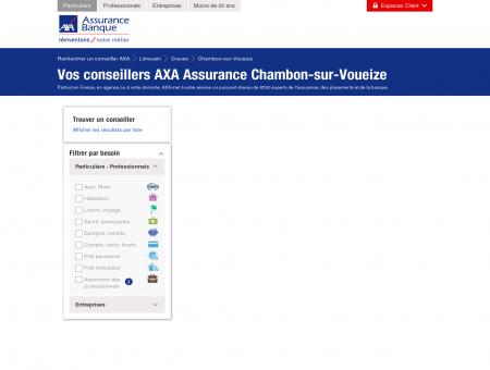 Assurance Chambon-sur-Voueize - 23170 - AXA