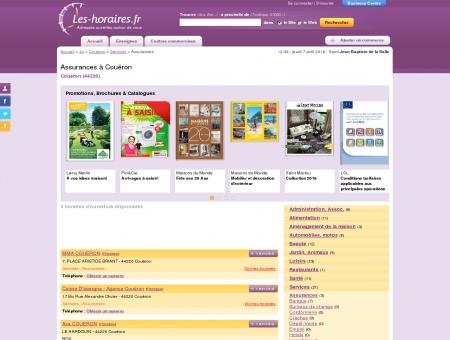Assurances à Couëron | Les-horaires.fr