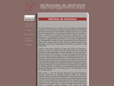 Assurance - Définition - Dictionnaire juridique