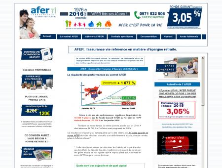 AFER Epargne Retraite : documentation sur...