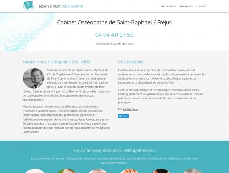 osteopathe saint-rapha�l