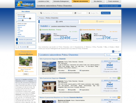 Vacances Poitou Charentes - Location Poitou...