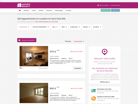 Location Appartement Val d Oise | Louer...