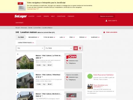 Location de maisons Loir-et-Cher (41) | Louer...