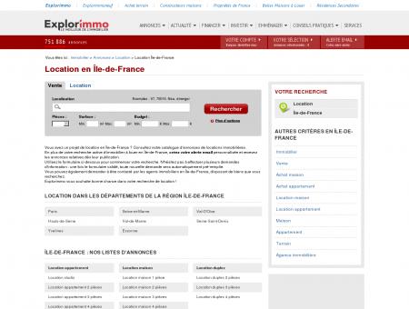 Location en Île-de-France : immobilier à louer...