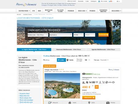 Location Côte D'Azur -20%   pierreetvacances.com