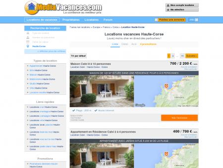 LOCATIONS VACANCES HAUTE-CORSE