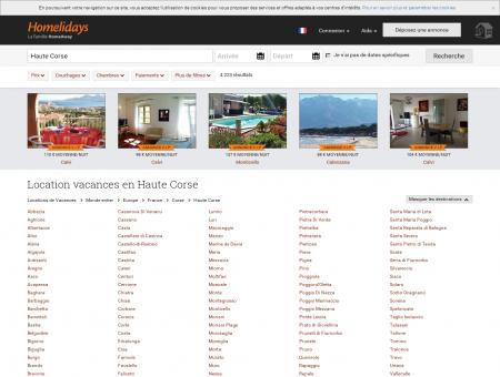 Location vacances en Haute Corse : location...