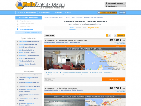 LOCATIONS VACANCES CHARENTE...