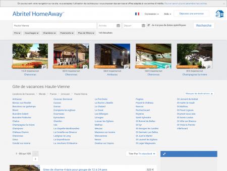 Haute-Vienne : location gite vacances   Abritel