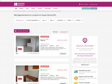 Location Appartement Haute-Vienne   Louer...