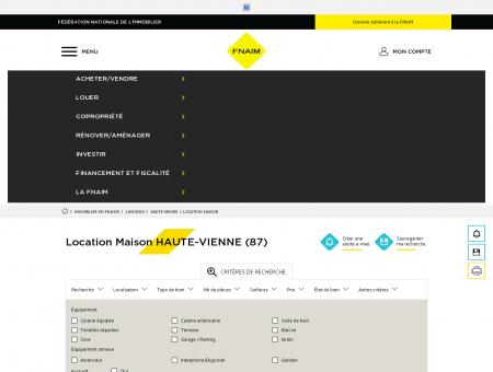Location Maison HAUTE-VIENNE (87) - Fnaim.fr