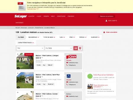 Location de maisons Haute-Vienne (87)  ...
