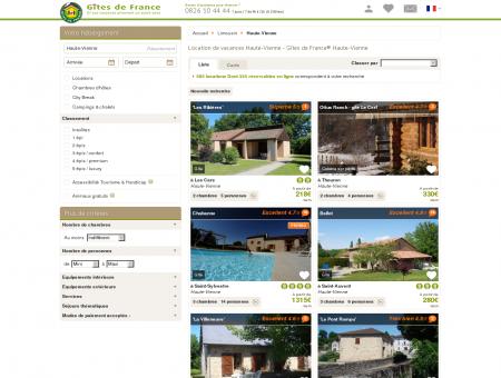 Location de vacances Haute-Vienne - Gîtes de...
