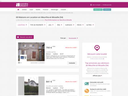 Location Maison Meurthe-et-Moselle | Louer...