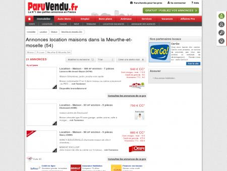 Location maison Meurthe-et-moselle (54) :...