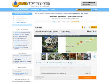 LOCATIONS VACANCES LUZ SAINT SAUVEUR:...
