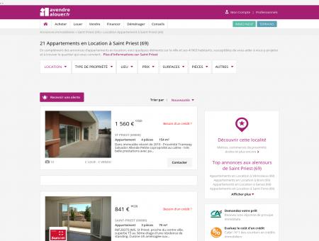 Location Appartement Saint Priest (69) | Louer...