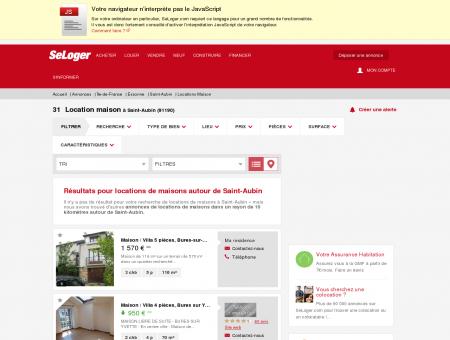 Location de maisons Saint-Aubin (91190) |...