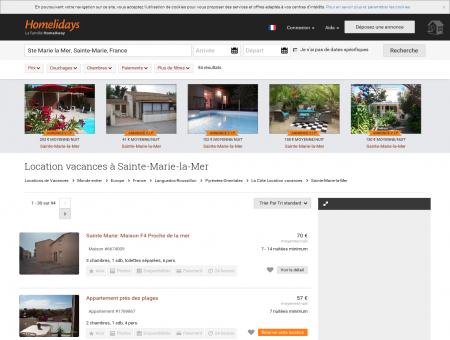 Location vacances à Sainte-Marie-la-Mer :...