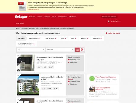 Location d'appartements Saint-Nazaire...