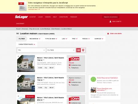Location de maisons Saint-Nazaire (44600) |...