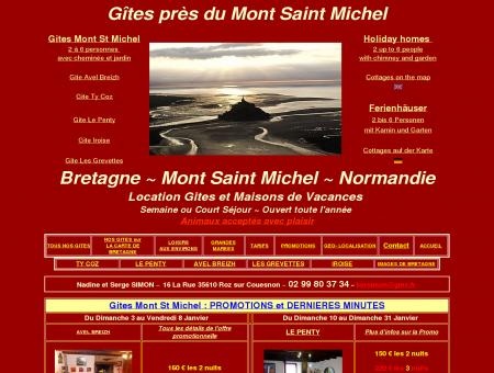 Gites Mont Saint Michel - 7 km du Mont St...