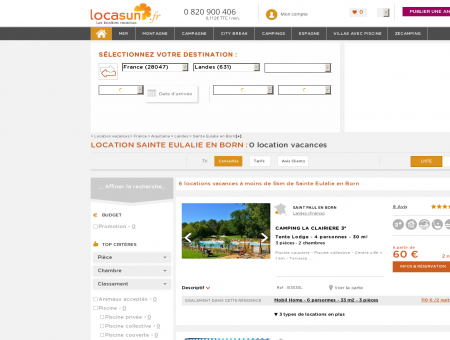 LOCATION SAINTE EULALIE EN BORN :...