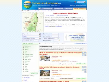 Location vacances Sainte-Eulalie (07510) -...