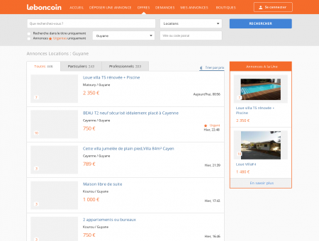 Annonces Locations Guyane - leboncoin.fr