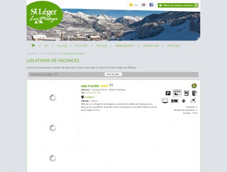 Locations de vacances: St-Léger Les Mélèzes
