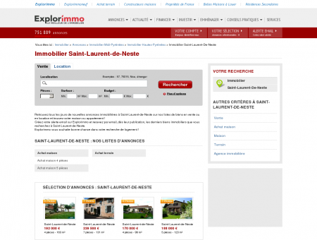 Immobilier Saint-Laurent-de-Neste :...