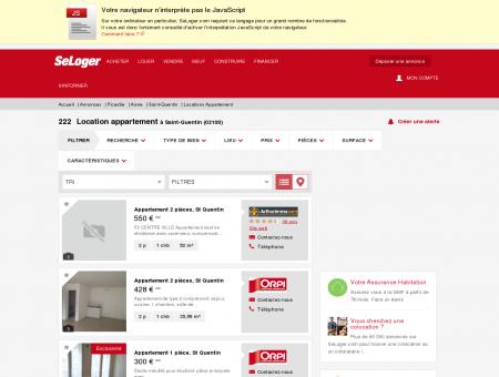 Location d'appartements Saint-Quentin...