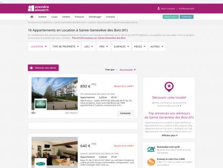Location Appartement Sainte Geneviève des...