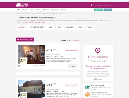 Location Maison Saint Omer (62) | Louer...