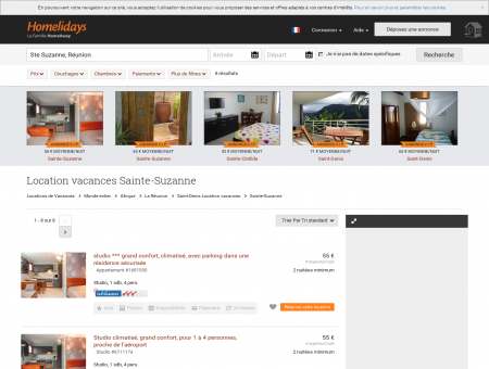 Location vacances Sainte-Suzanne : location...