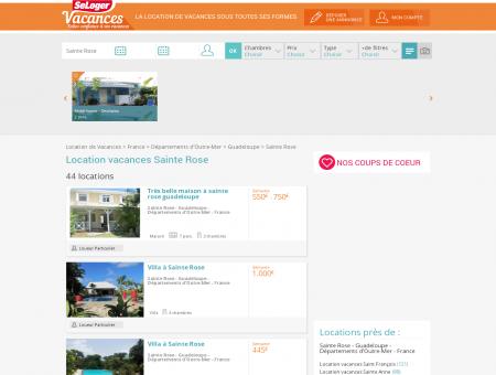 Location vacances Sainte Rose 97115 (appart,...