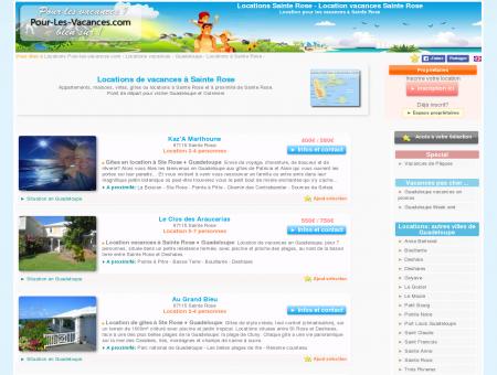 Location vacances Sainte Rose, locations...