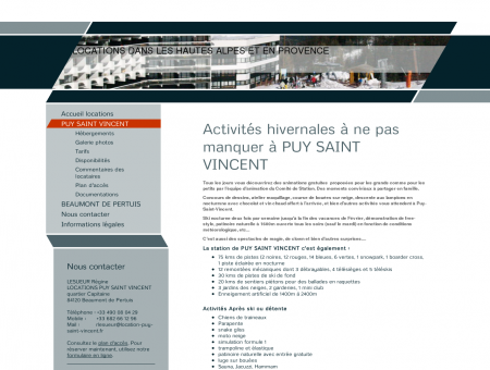 LOCATIONS PUY SAINT VINCENT - Station de...
