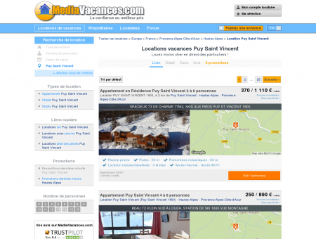 LOCATIONS VACANCES PUY SAINT VINCENT:...
