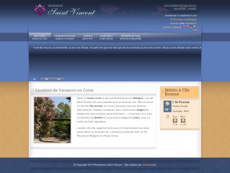 Locations de Vacances en Corse : Saint...