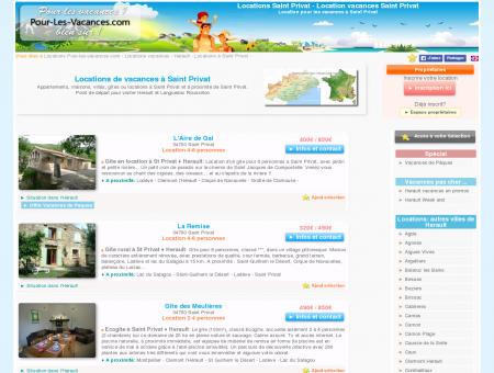 Location vacances Saint Privat, locations...