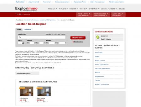 Location Saint-Sulpice : immobilier à louer...