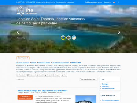 Location vacances Saint Thomas, Location...