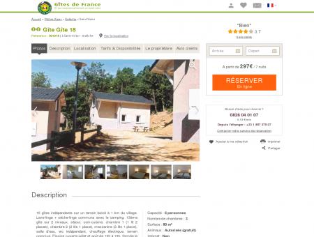 Gîte Gîte 18 à Saint-victor - Ardèche , Gîte 2...